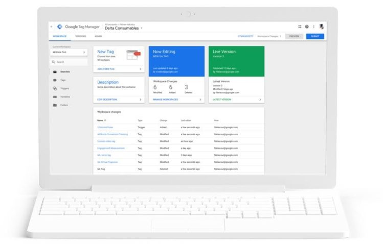 Seo module configurations for Google Tag Manager (GTM)